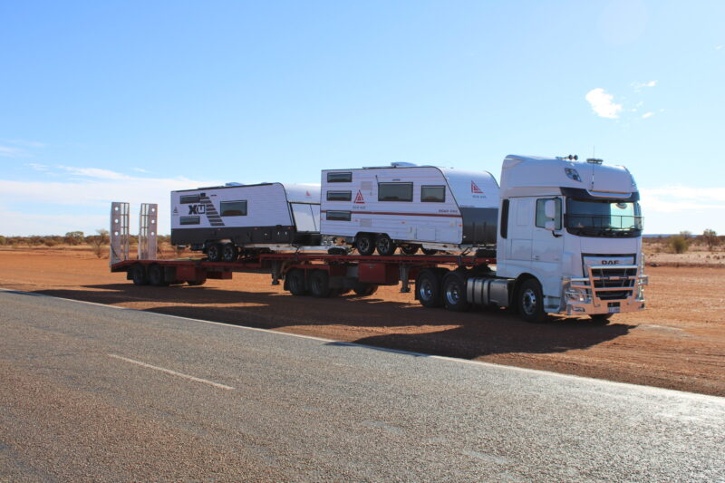 New Age caravans being Transported from Melbourne to Port Headland Western Australia
