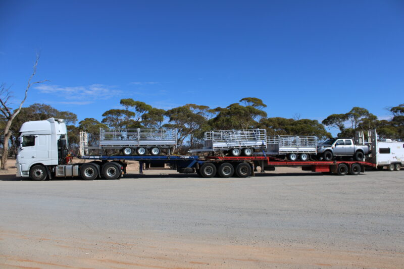 Trailers from Western Australia transported to Victoria