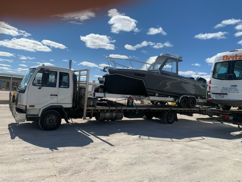 8.5 meter Eden Craft Transported to Perth