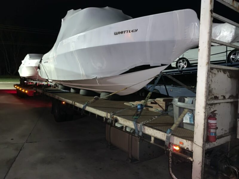 New Whittley Boats being transported to Western Australia