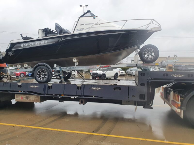 New Bar Crusher boat on the way to Adelaide