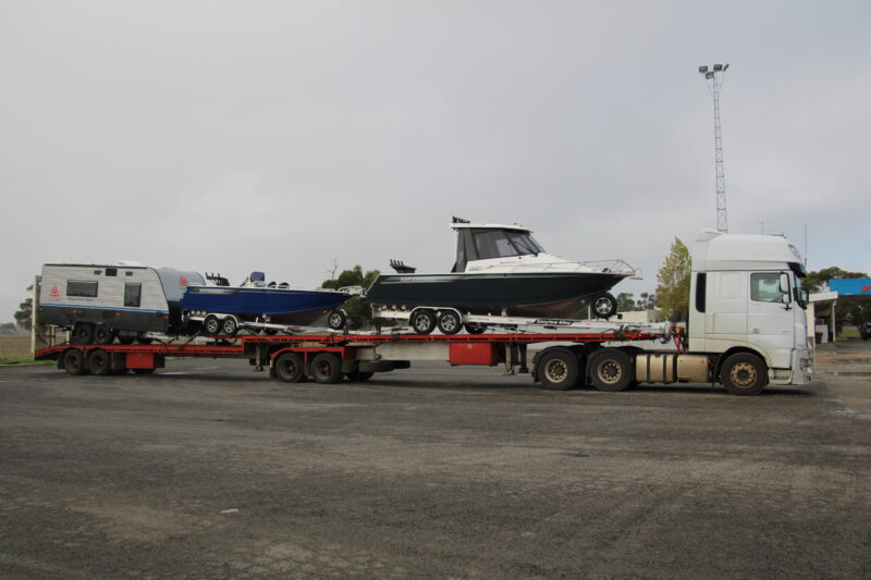 Barcrusher boats transported to darwin