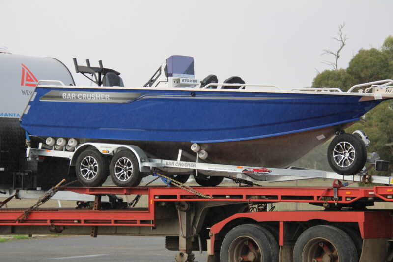 Barcrusher 670 XSR transported to darwin