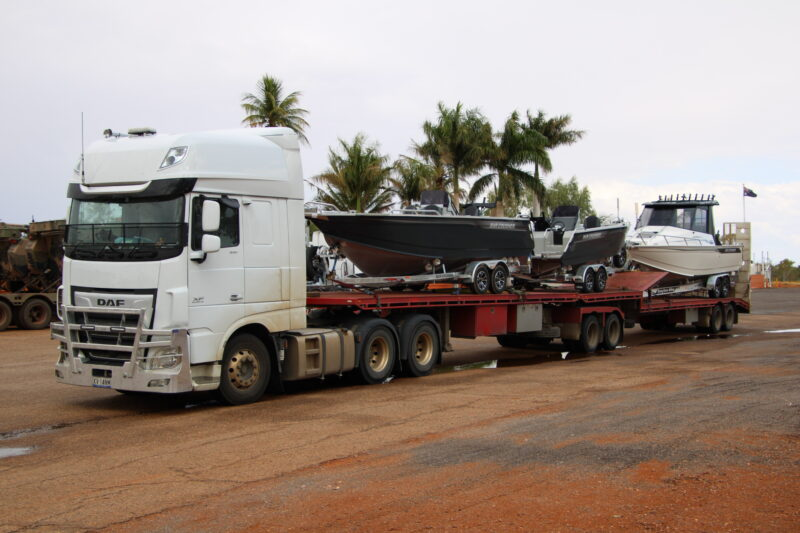 Bar crusher boats transported Melbourne to Darwin