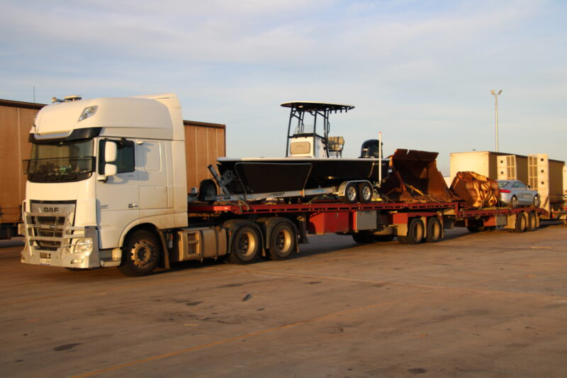 Loading Freight from Darwin going to Melbourne