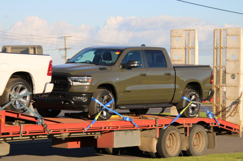 Dodge ram transported to Adelaide