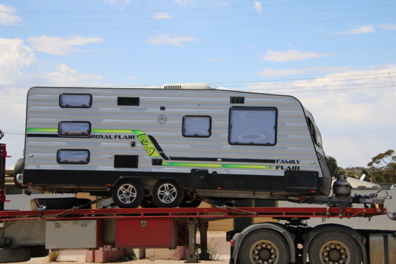 Royal Flair Caravan transported to Perth